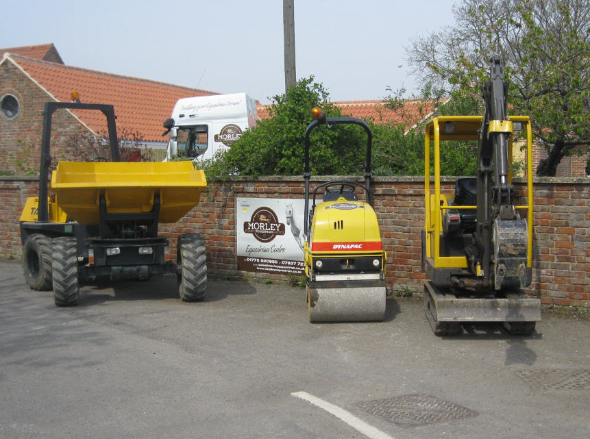 Dump Truck Roller and Mini Digger sm