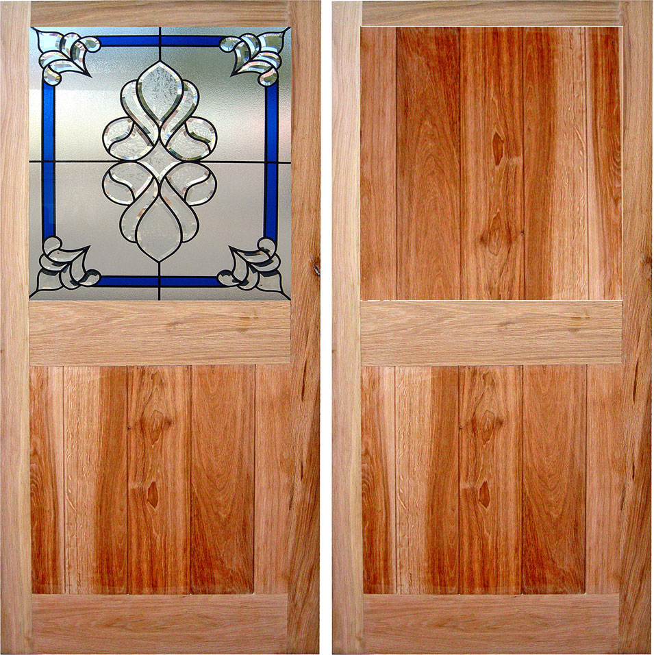 Farmhouse Internal Oak Door With Glass and External Farmhouse Solid Wood Door