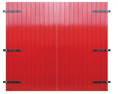 Wooden Garage Doors Painted Soft Wood