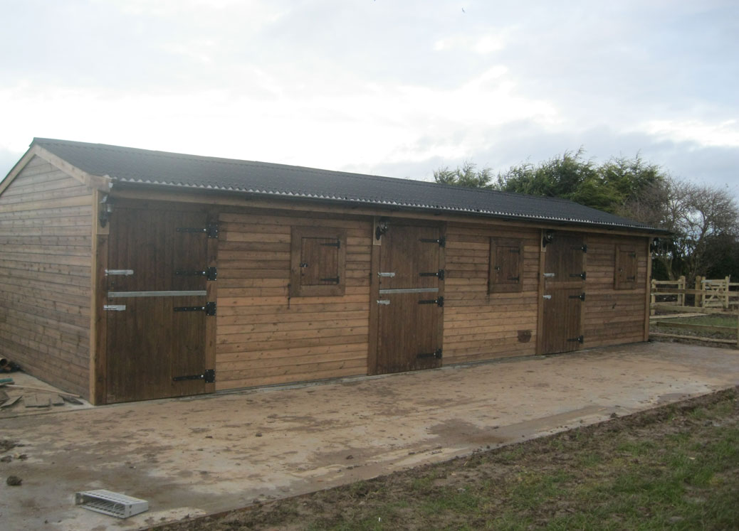 The finished stable