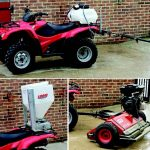 Honda Quad Fourtrax and attachments